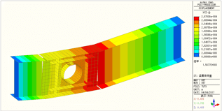 貫通孔を有する鉄骨梁の変形図
